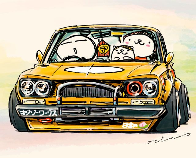 crazy car art jdm japanese old school hakosuka original