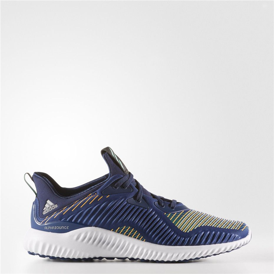 reputable site 824f3 8e92f Adidas alphabounce Shoes (Mystery Blue  Clear Onix  Running White Ftw)