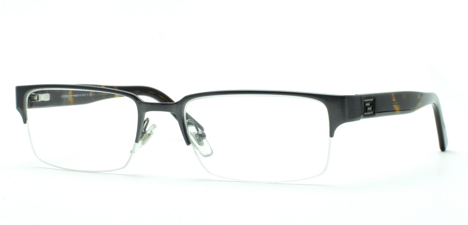 versace ve 1184 eyeglasses mens semi rimless ve1184 frames