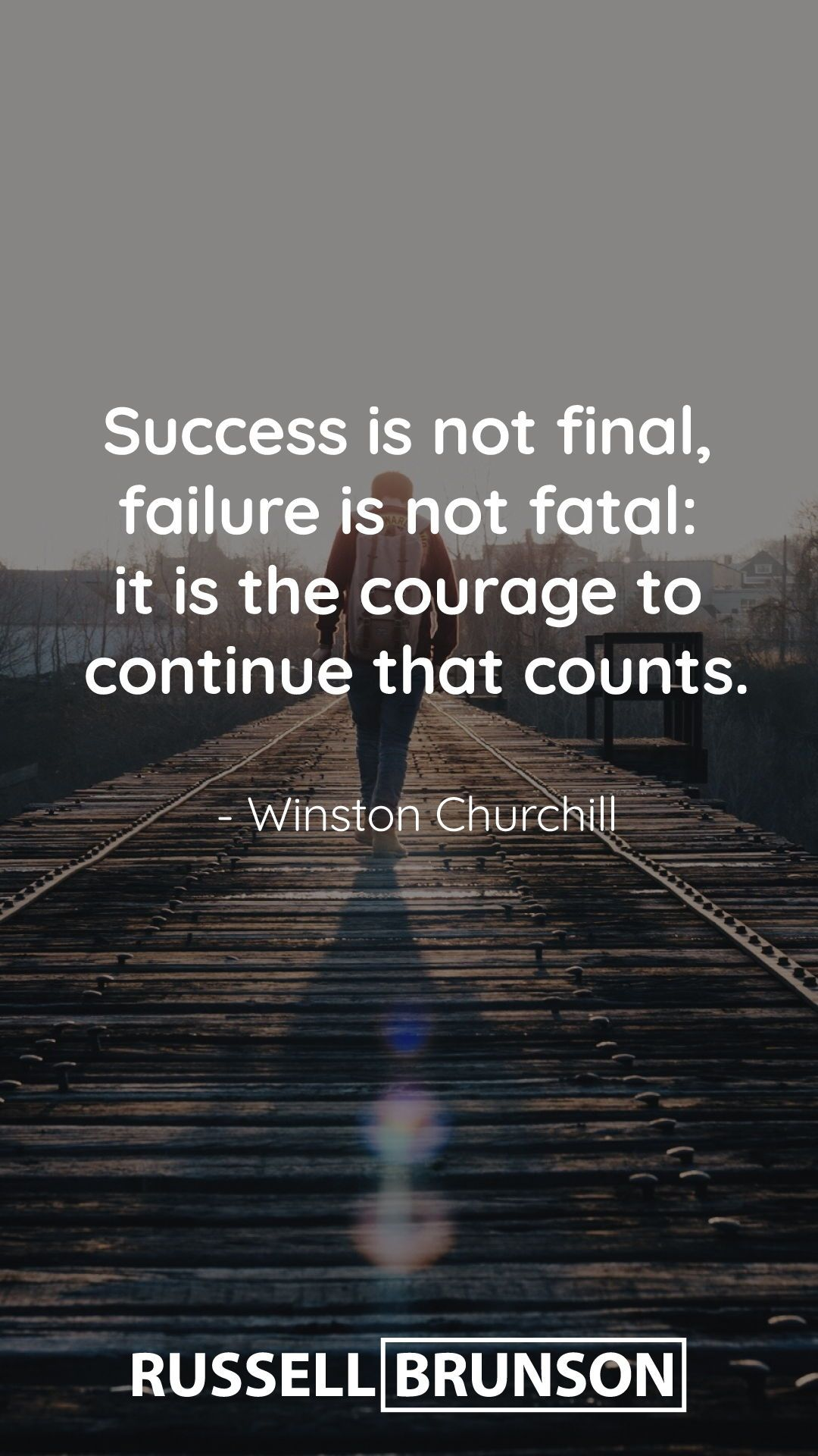 Success Is Not Final Failure Is Not Fatal It Is The Courage To Continue That Counts Winston Chur Success Is Not Final Churchill Quotes Historical Quotes