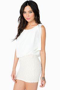 Rehearsal dress?  A'GACI Boucle Drape Sleeve Blouson Dress - Dressy