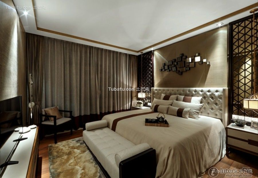 Elegant New Chinese Style Collection Of Bedroom Design 2015