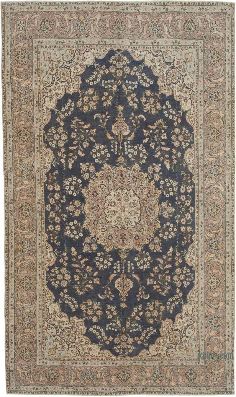 Vintage Turkish Hand Knotted Area Rug 6 8 X 11 5 80 In X 137 In K0049242 In 2020 Vintage Area Rugs Rugs Area Rugs