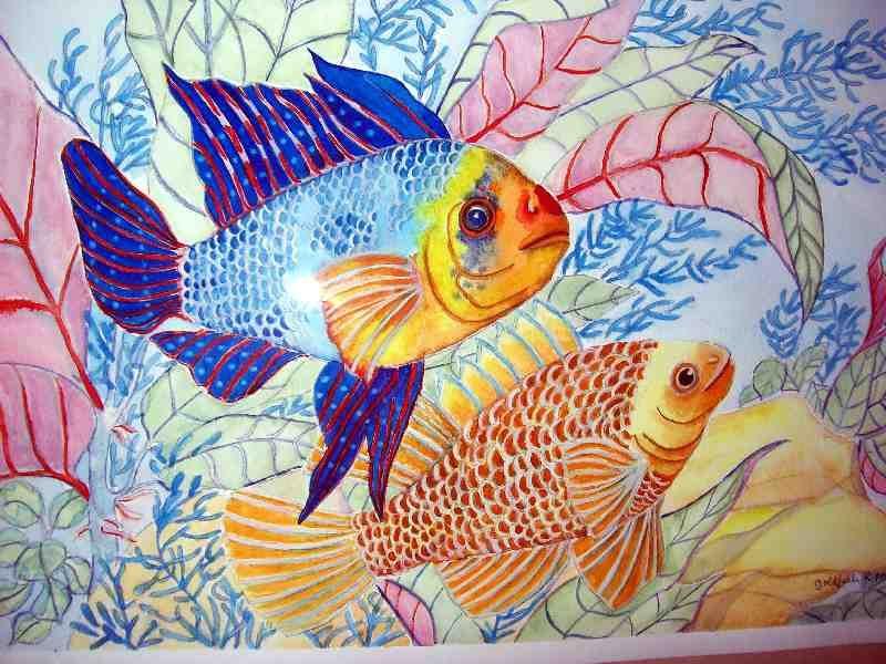 Fish artwork tropical fish meet watercolor painting for Tropical fish painting
