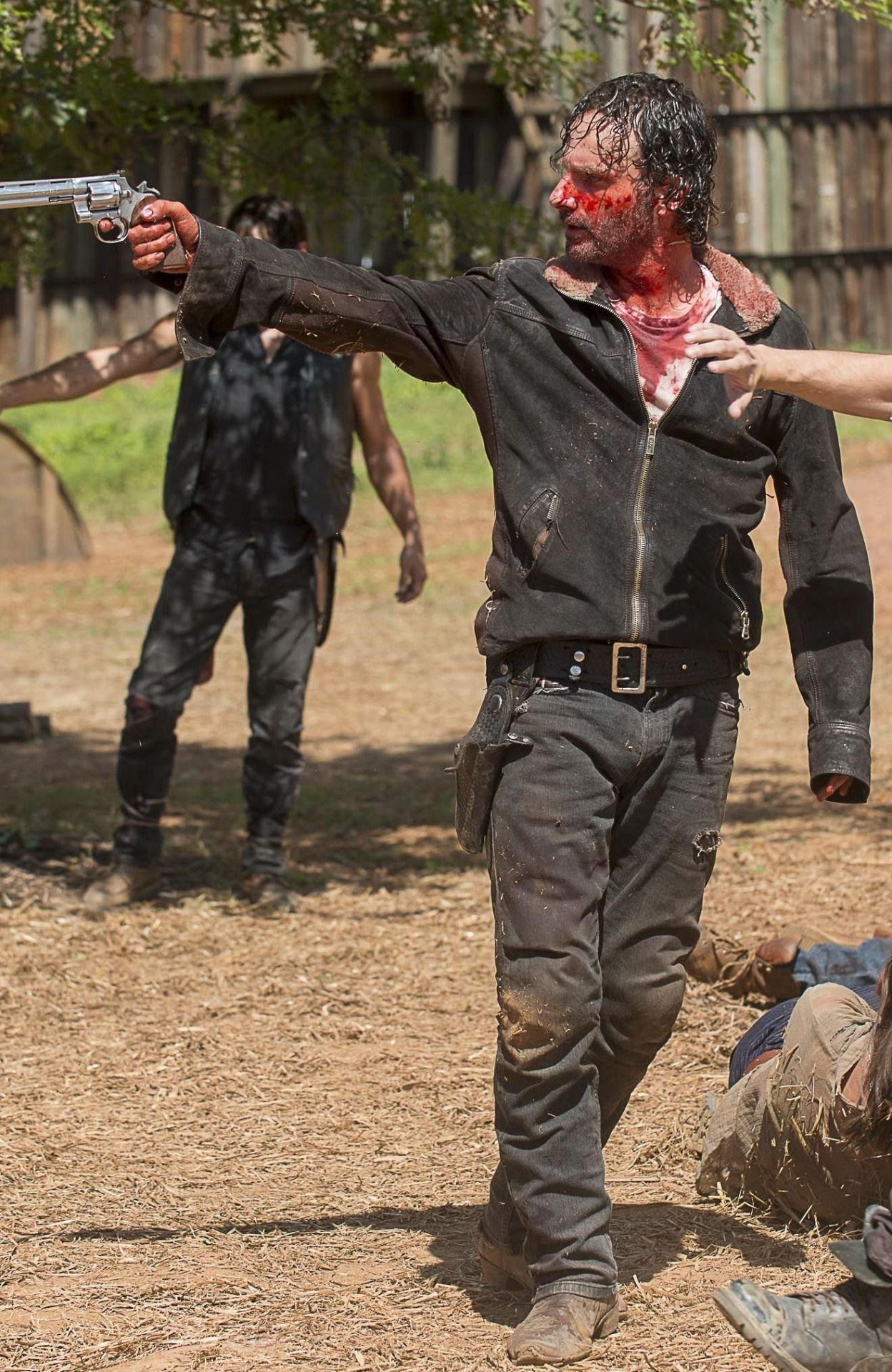 Rick...he generally likes to bathe in the blood of his enemies...he's got issues what can I say...
