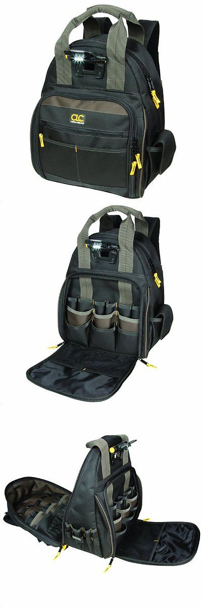 f690fe4f99cf Other Tool Storage 11706  Custom Leathercraft L255 Tech Gear 53-Pocket  Lighted Back Pack