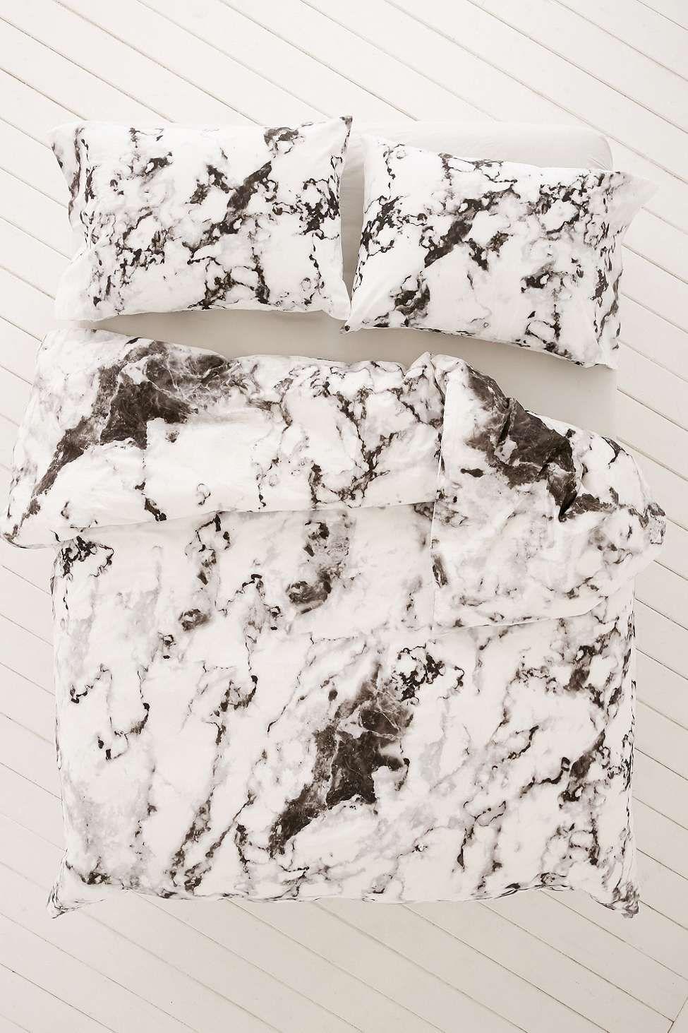 marble print duvet set interior bettbezug bett bettw sche rh pinterest de