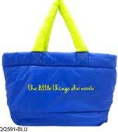 Chanel Bright Blue With Neon Tote/Handbag