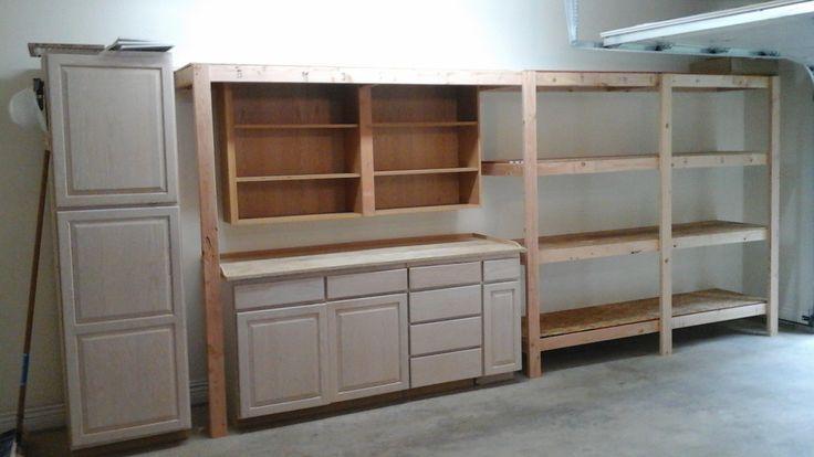 old kitchen cabinets 2x4 diy garage storage favorite plans ana rh pinterest com  building 2x4 shelves for garage