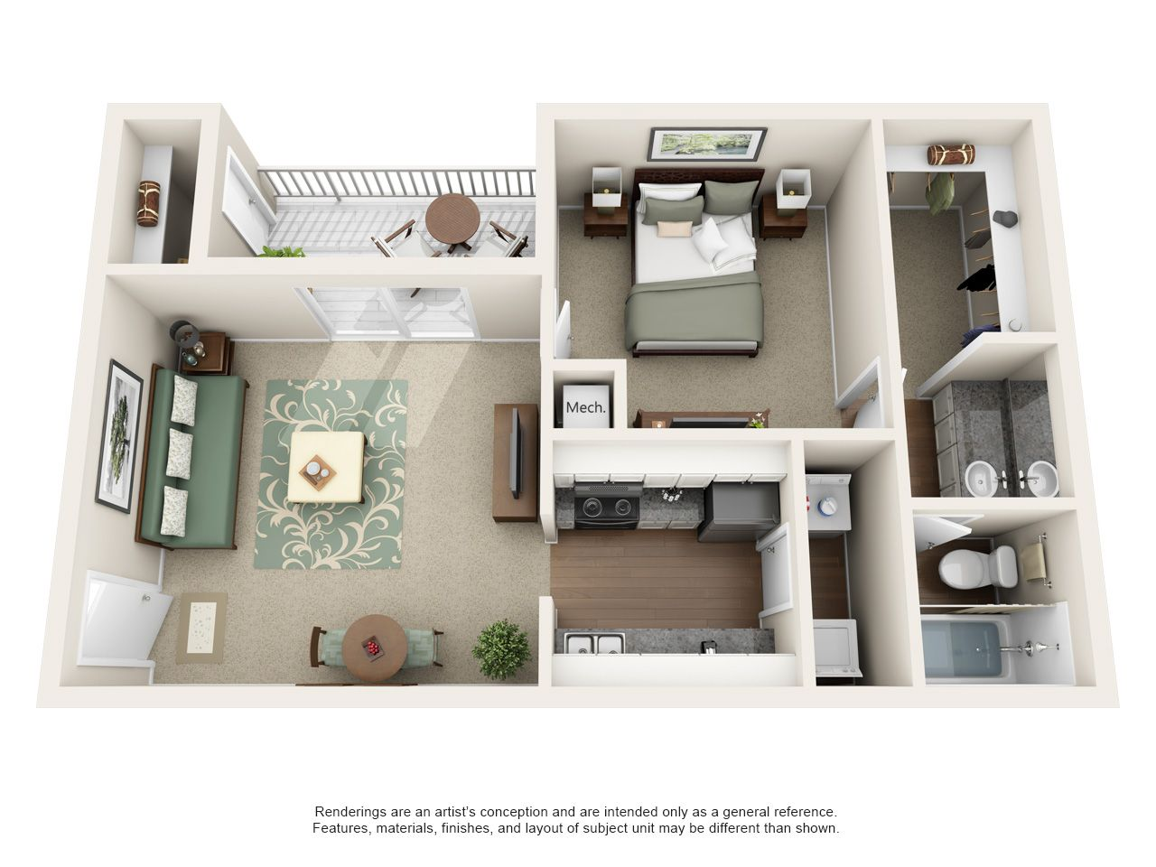 Luxury 1, 2, and 3 Bedroom Apartments in Kennesaw, GA