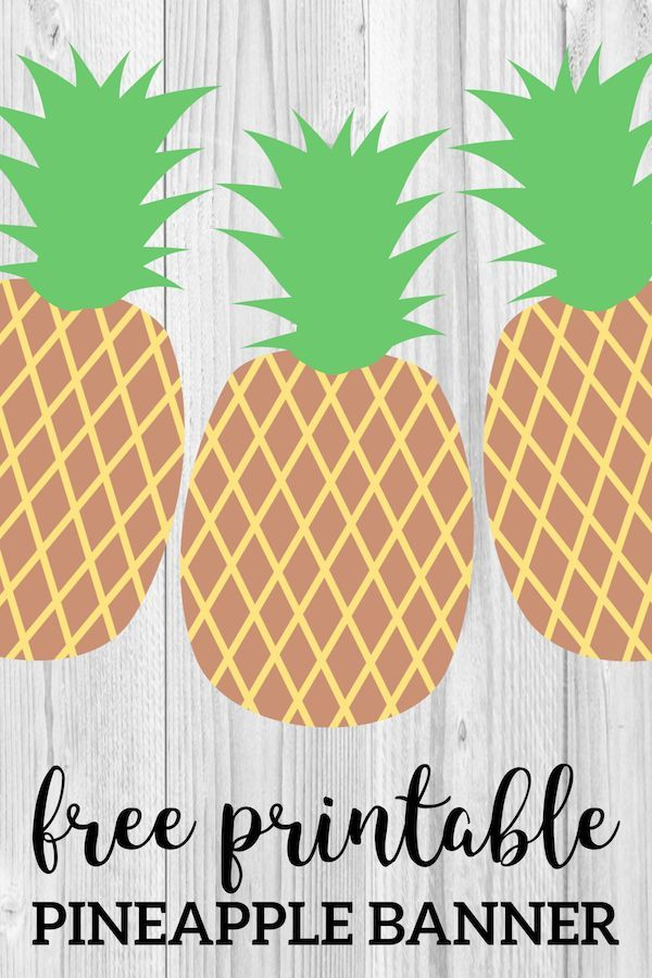 Pineapple Party Banner Free Printable | Prints ...