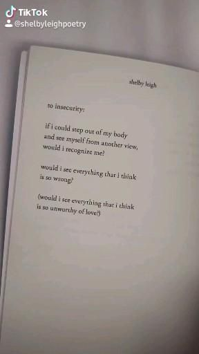 to insecurity, a poem from the book