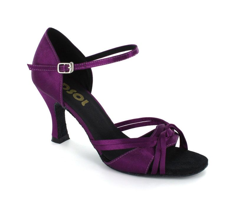 964e9a566a64 Purple Satin Sandal LS172604 in 2019