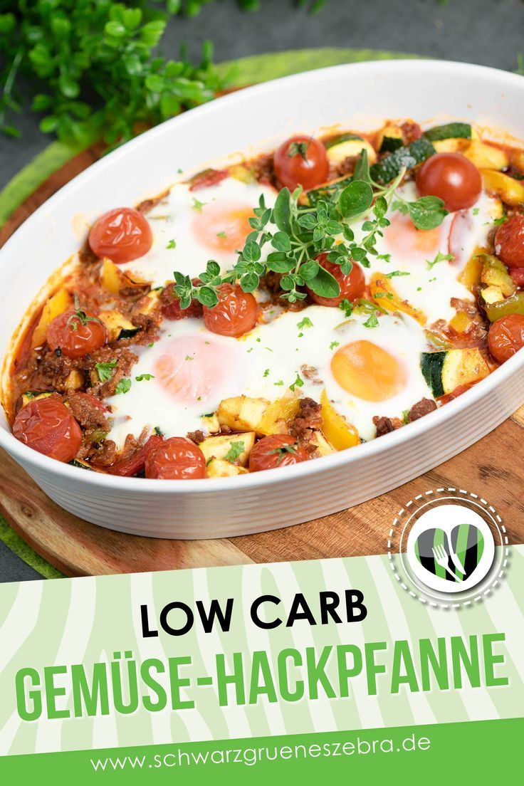 Photo of Vegetable mince with fried egg – low carb – LCHF – gluten free