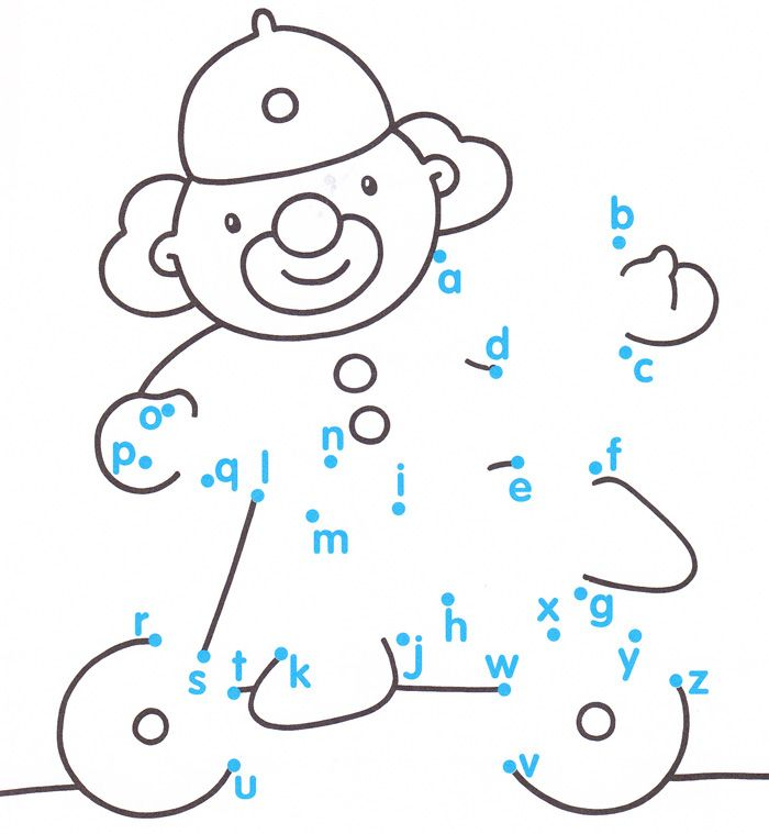 free printable letters dots to dots games, kids English