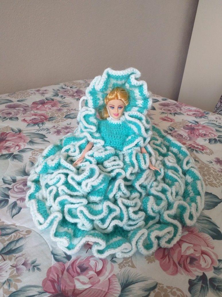Örgü  bebek elbisesi #oyuncakbebekelbiseleri