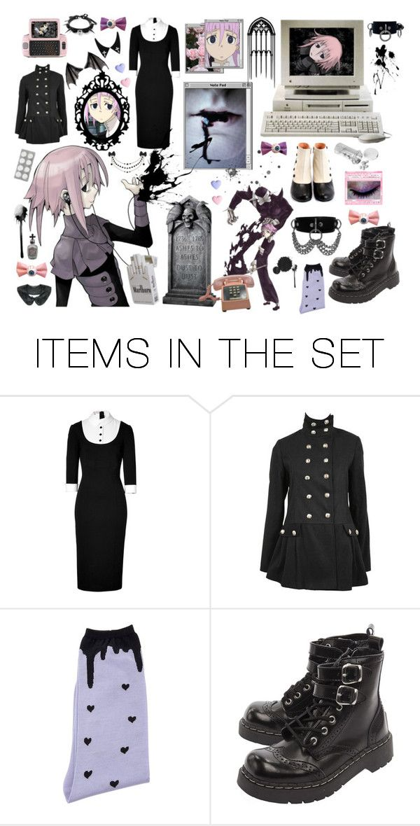 """""""Neh, did you know? My blood is black."""" by pastel-syringe ❤ liked on Polyvore featuring art"""