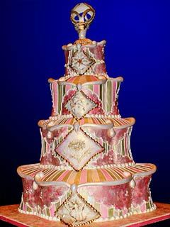 Extraordinary Four Tier Seasons Wedding Cake This Won 10000 Dollars At The Food Network Challenge Beaver Creek From W