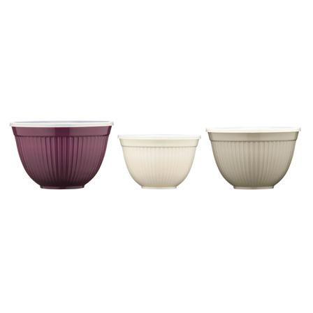3bols en mélamine, violet/gris/blanc Marque : Premier