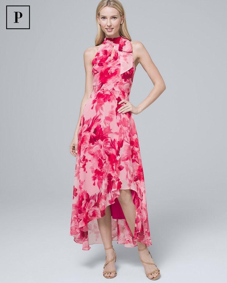 369fd4b5e52 Women s Petite Floral-Print Soft Maxi Dress by White House Black Market