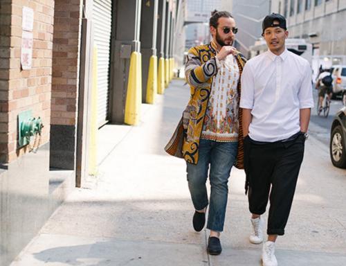 http://chicerman.com  billy-george:  Josh Peskowitz (left) and Dao Yi Chow  Photo by Liam Goslett  #streetstyleformen
