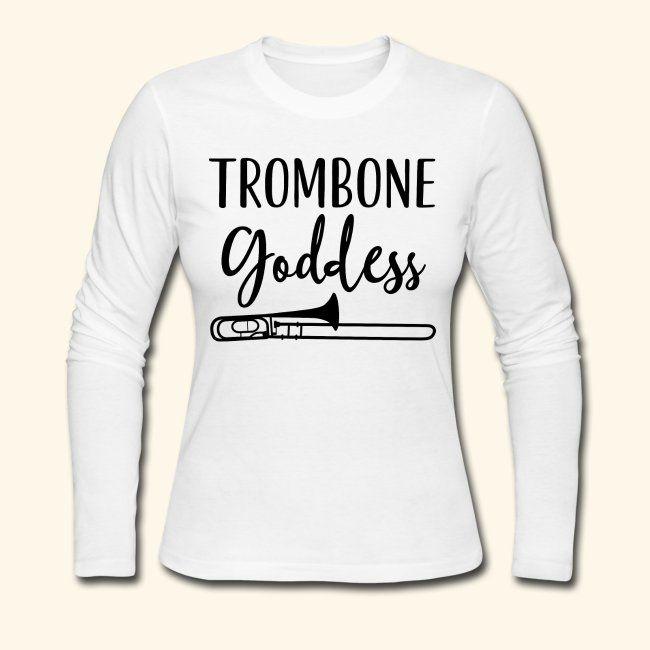 inktastic Trombone Emblem Long Sleeve Creeper