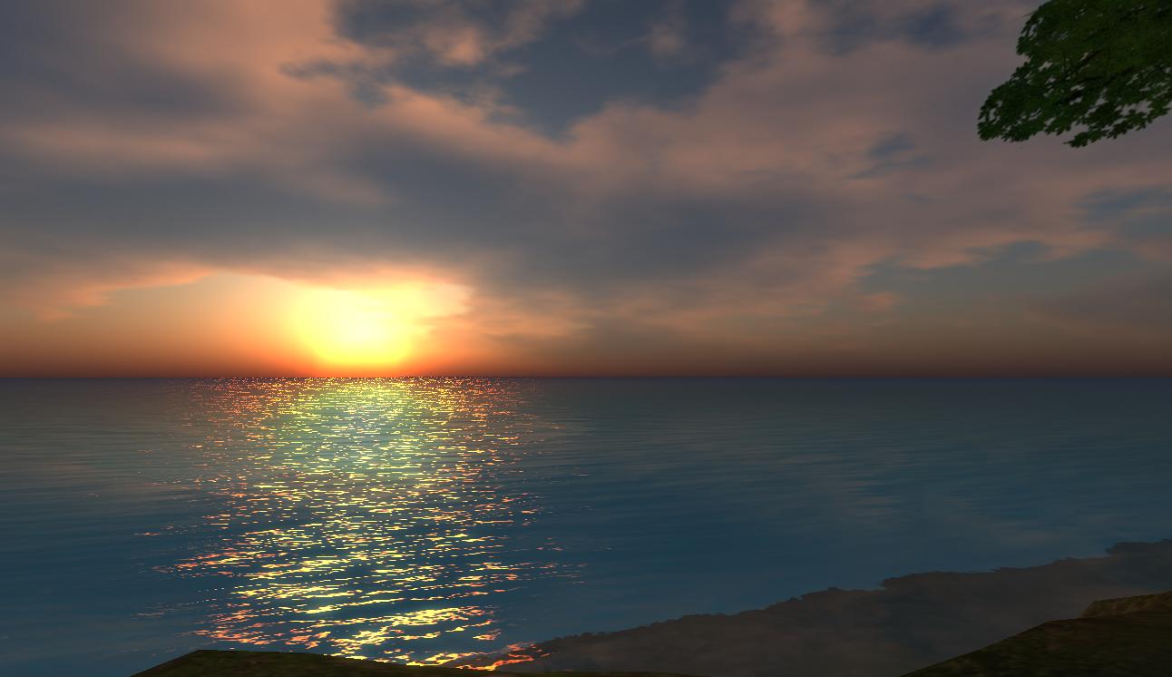 Coastal Sunset At Tempuraisland Coastal Celestial