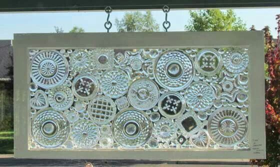 Glass plates glued to a windownius do it yourself creations garden art solutioingenieria Images