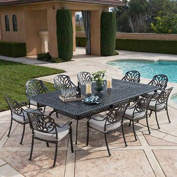 Veranda Classics San Marino Grey 11 Piece Dining Set Outdoor