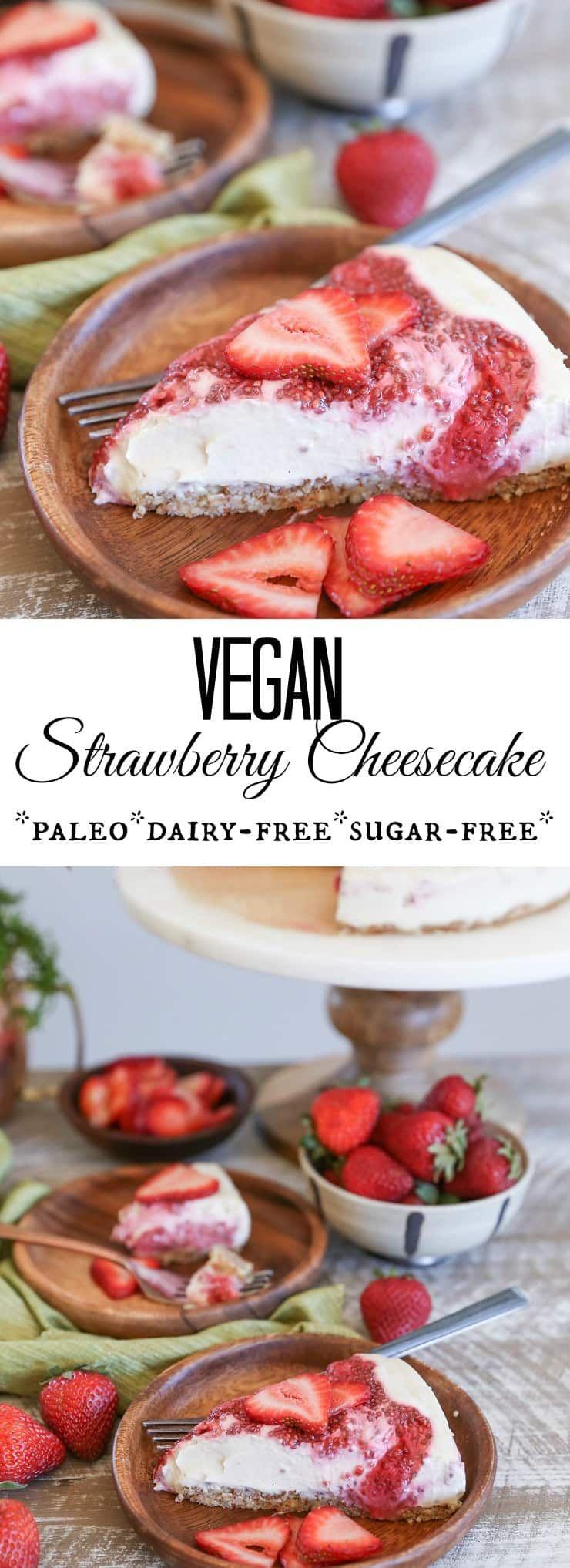 Vegan Strawberry Cheesecake Jars