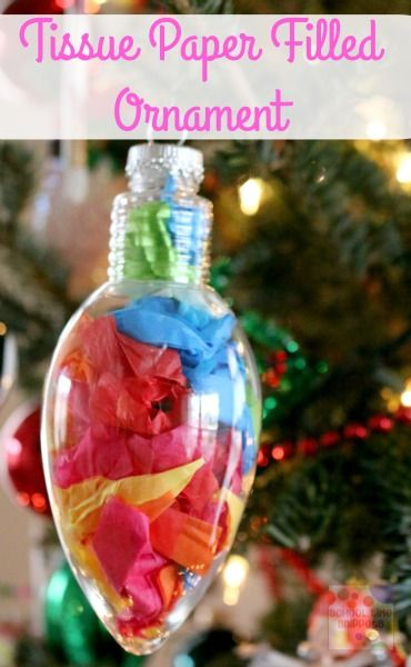 Your children will love creating a one of a kind ornament for the