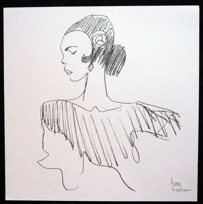 Pratt, Hugo - silkscreen print - Flamenco - (1991) - Catawiki