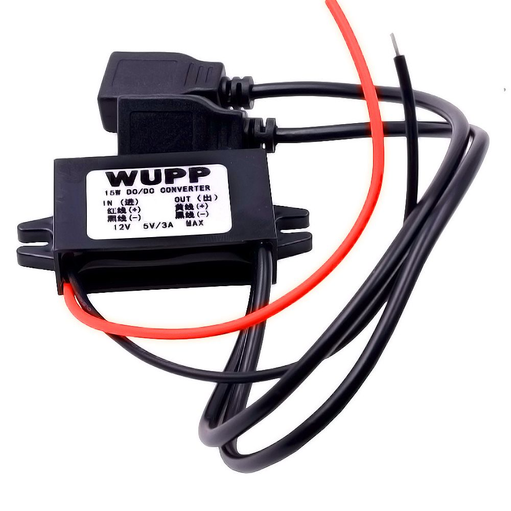 small resolution of wupp dc dc dual usb connector car converter module step down 12v to 5v 3a 15w power outlet adapter charger socket plug 018a1