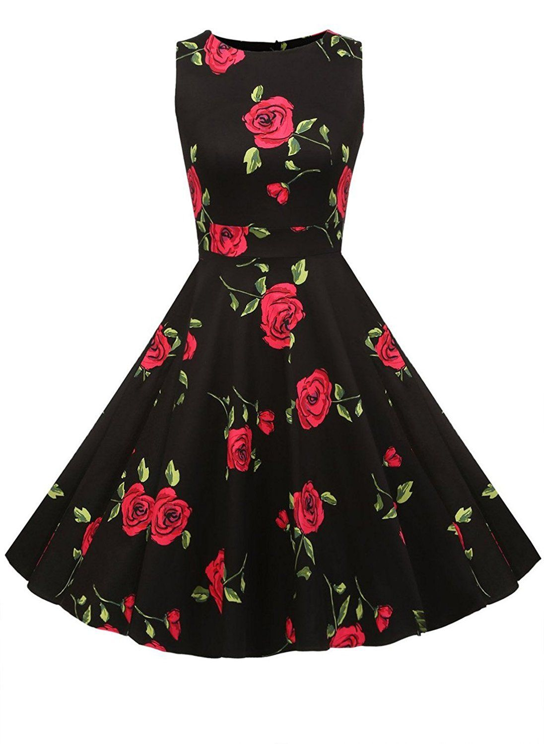 08b53e79442dd6 Relipop Women's Sleeveless Vintage Floral Dress Party Retro Cocktail Dresses  *** Startling review available here : Dresses