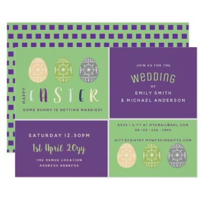 Easter wedding invitations modern purple green elegant wedding easter wedding invitations modern purple green elegant wedding gifts diy accessories ideas negle Image collections