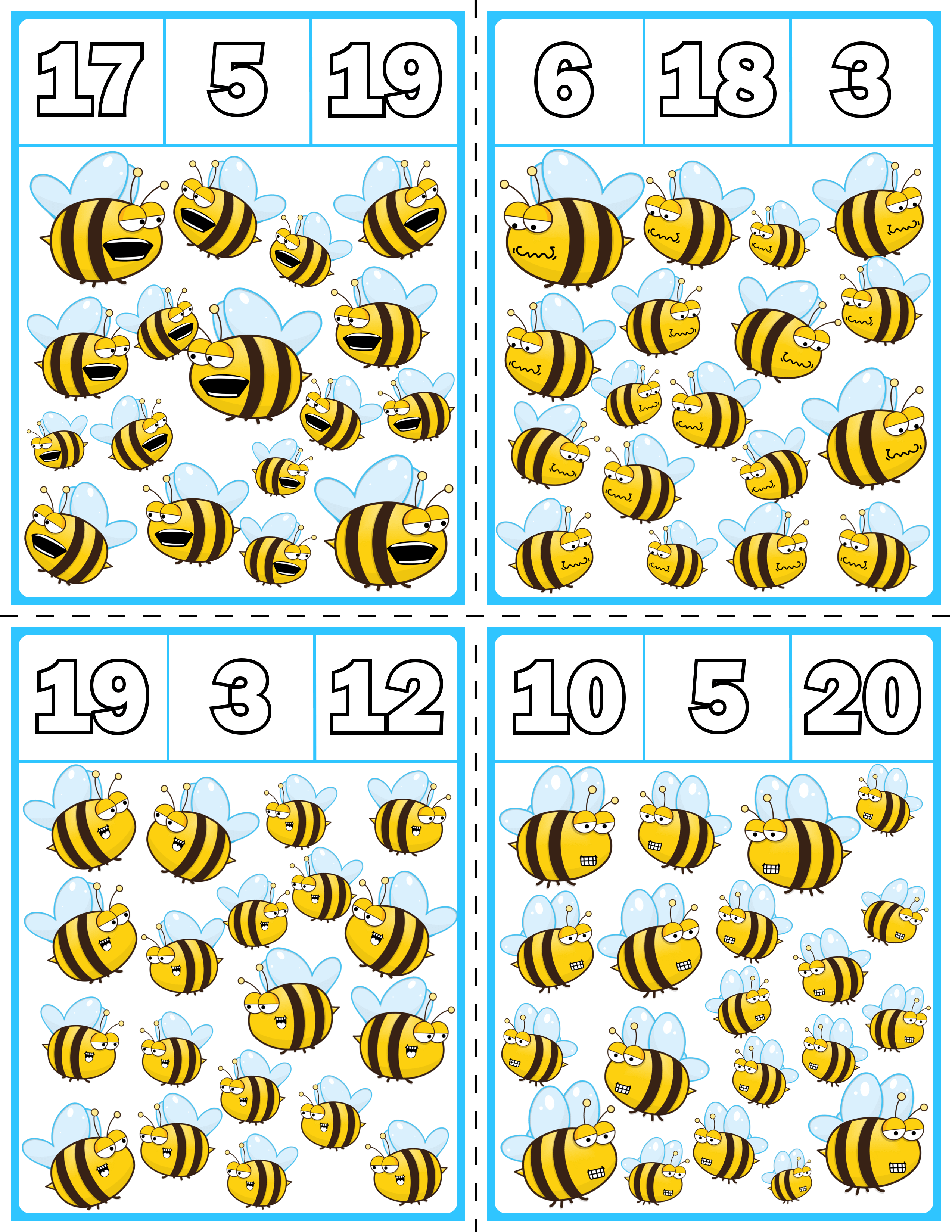 Spring Bees Clip Cards