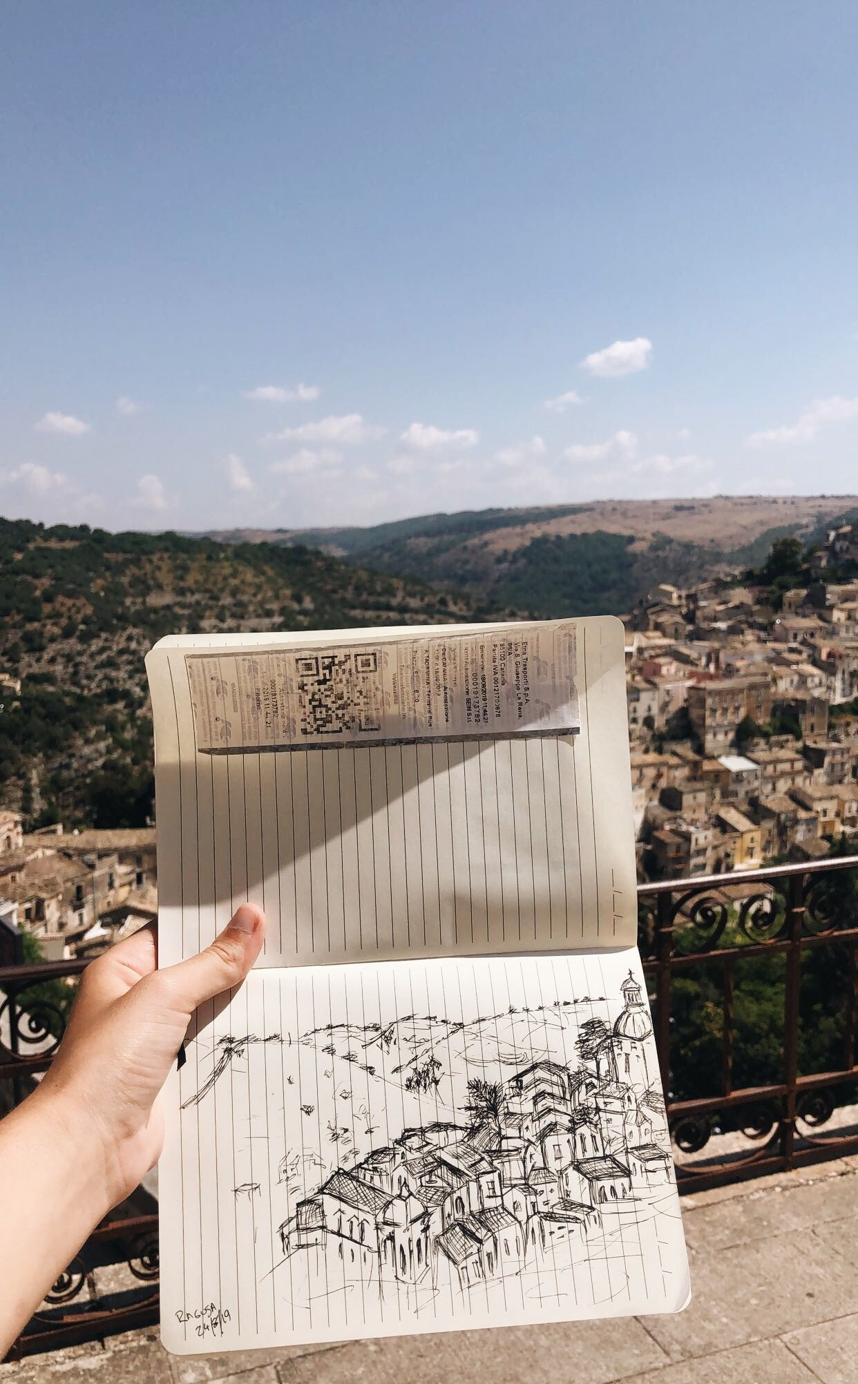 Quick sketch from Ragusa, Sicily - Italy! #italytravel #italy #sicily #sicilytravel #ragusa #drawing #traveljournal #travelsketch #travelsketchbook #inkdrawing #europe #europetravel