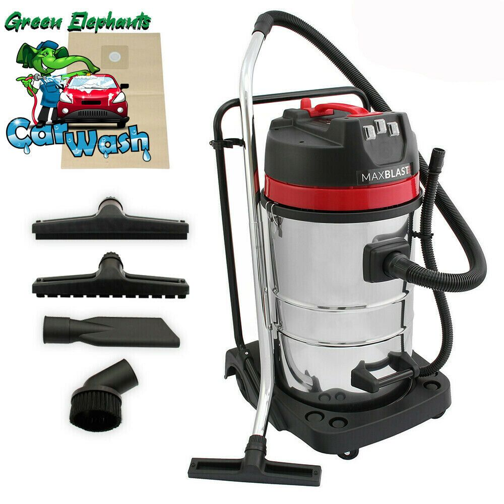 NEW 80L Industrial Vacuum Cleaner Wet and Dry CARWASH KIT