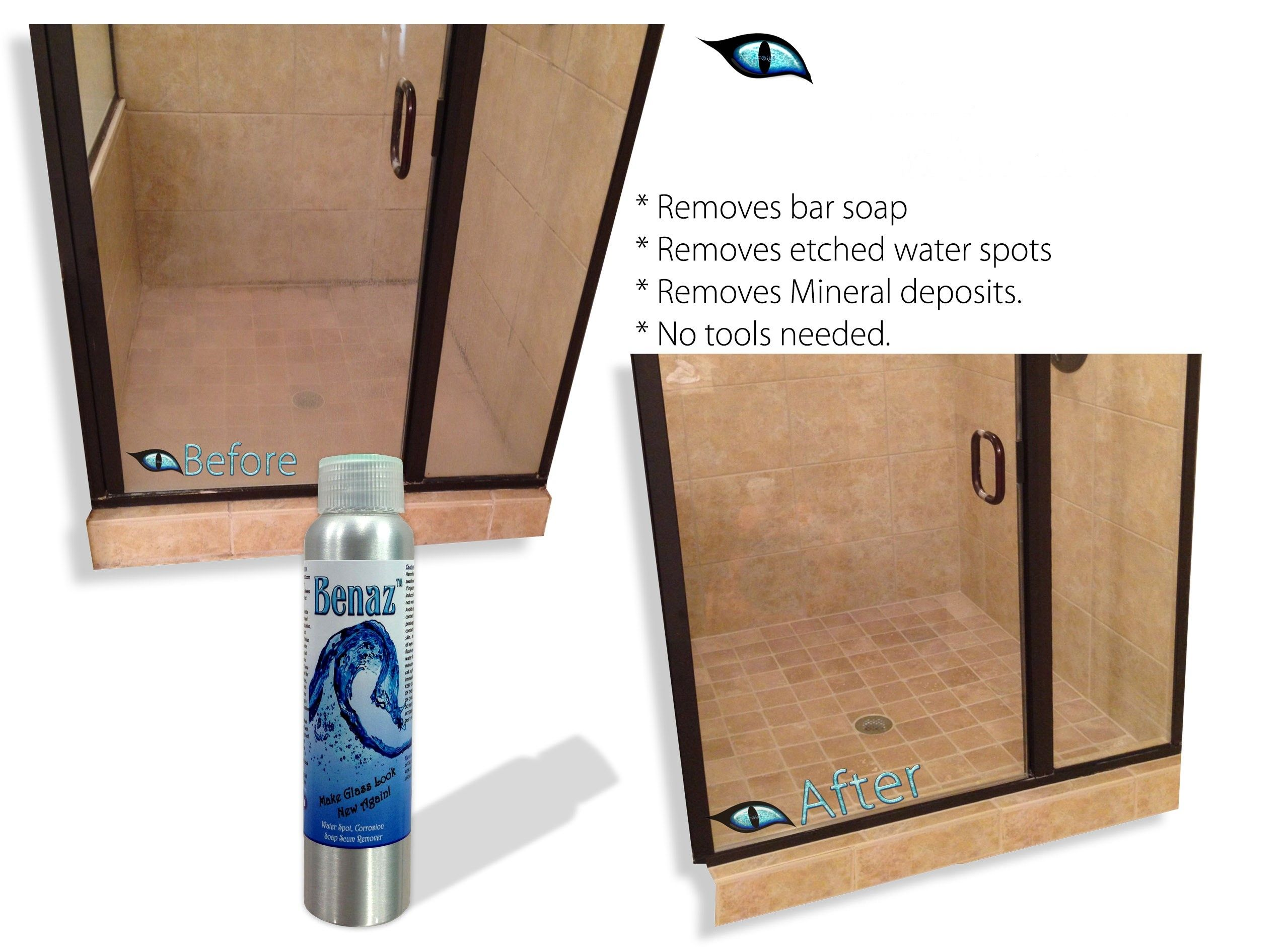 A good quality shower door cleaner and sealer can go a