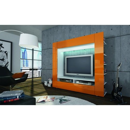 Un Meuble Tv Mural Design Lumineux Andora2 Avec Beaucoup De
