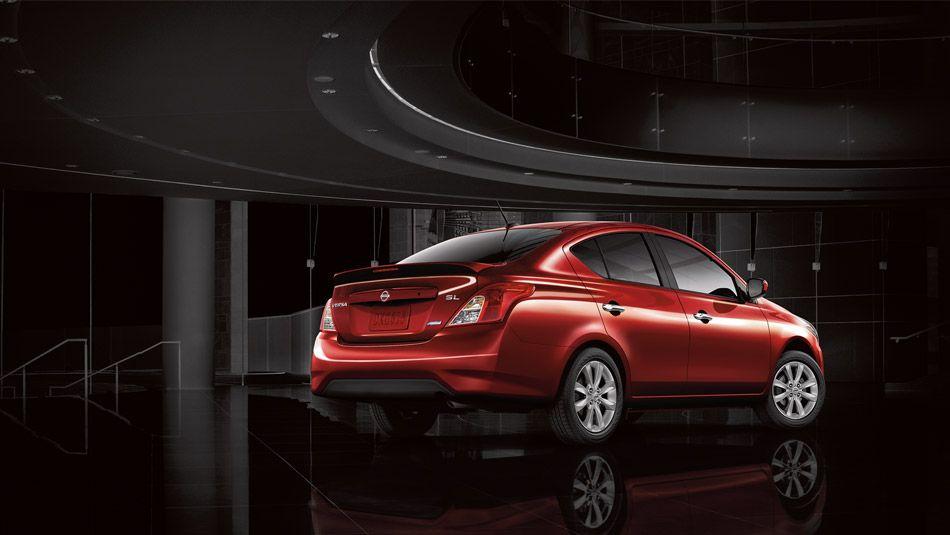 Nissan Versa® Sedan SL shown in Red Brick. Nissan versa