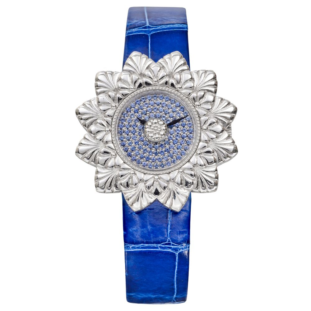 Pre-Owned Buccellati Eliochron Quartz White Gold & Blue Sapphire