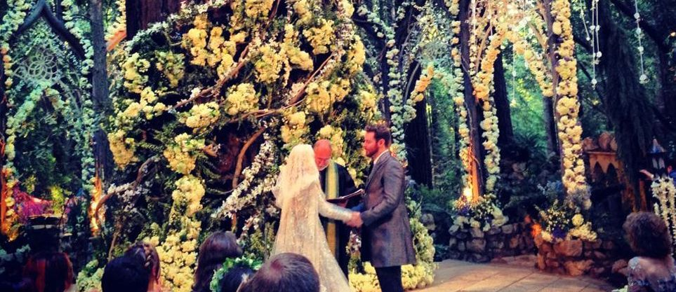 sean parker wedding photos | Sean Parker's hobbity wedding