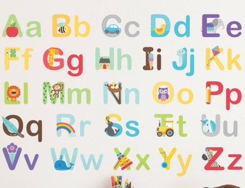 Alphabet Wall Stickers   Buy ABC Wall Stickers