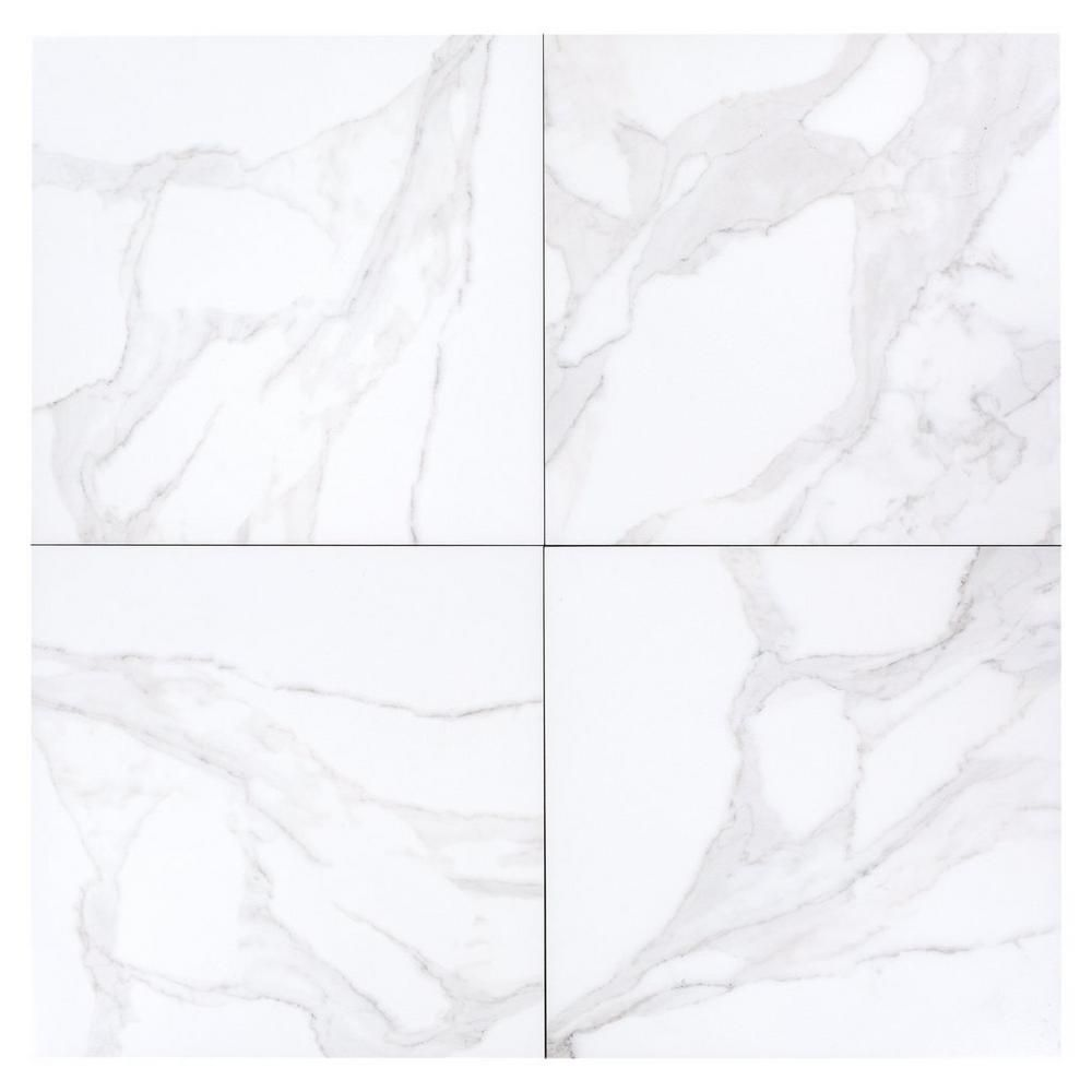 Dimarmi Bianco Porcelain Tile 18in X 100129881 Floor And Decor