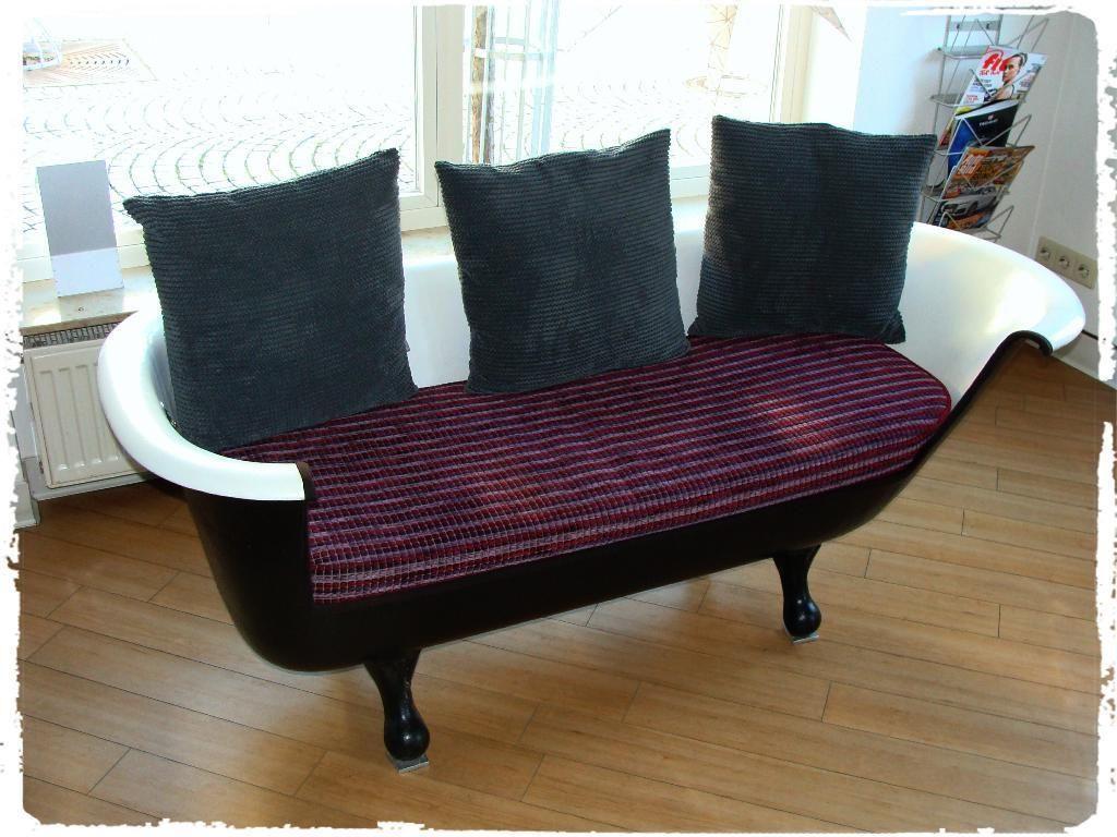 Einmaliges Badewannensofa 2 Sitzer Angefertigt Aus Einer Massiven Gussbadewanne Incl Auflage Design Badewannen Sofa In Bade Sofa Schone Zuhause Zuhause