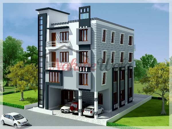 Multi Storey Residential Buildings 3d Front Elevation Design Front Elevation Designs Residential Building Residential Building Plan