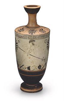An Attic White Ground Lekythos Circa 490 480 B C Ancient Art Antiquities Auction Ancient Art Antiquities Bottles Ancient Art Antiques Greek Art
