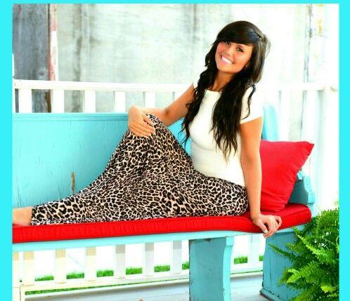 leopard maxi skirt♥
