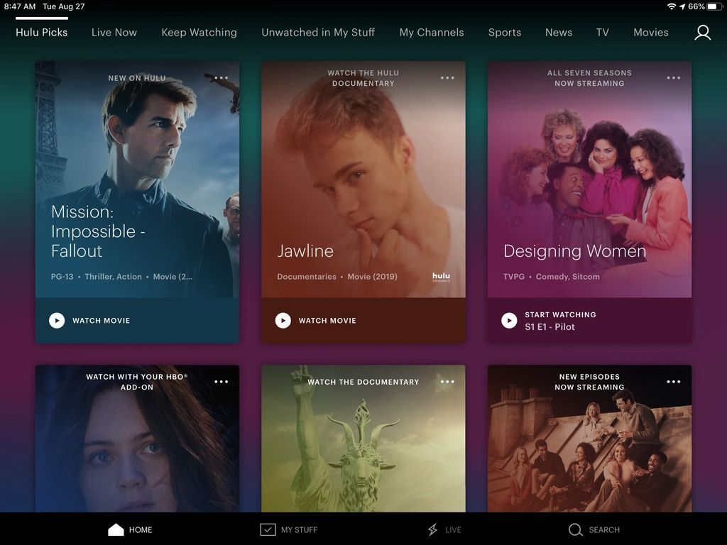 Hulu Updates Home Screen on iPhone & iPad Apps For Easier